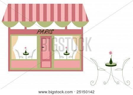 Illustration Of A Parisian Cafe