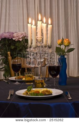 Romantic Table For Two Served