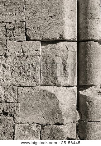 Cut Stone Wall, Sepia
