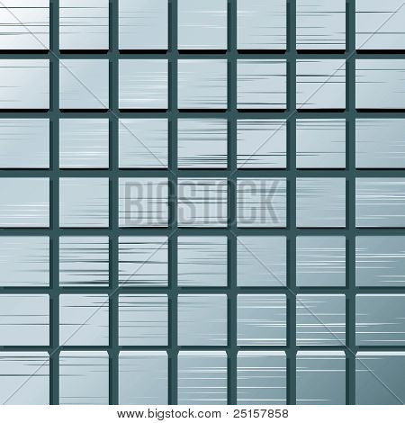Vector Illustration Of A Metal Plate With Squares