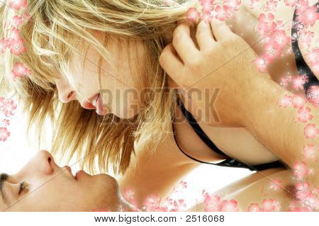 Couple Foreplay With Flowers #3