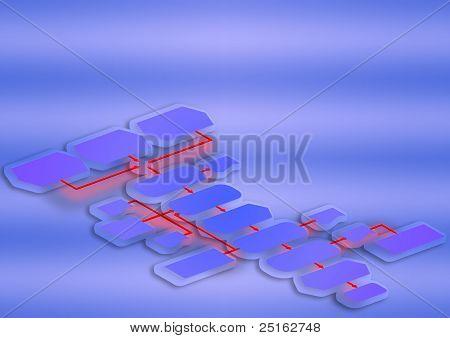 Empty flow chart diagram