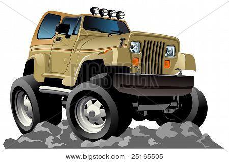 Vector cartoon 4x4 car