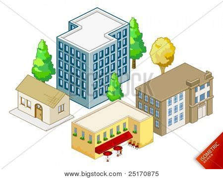 Isometric vector Objects