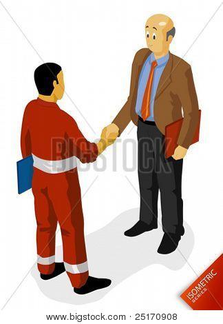 Öl Labour Agreement Vektor