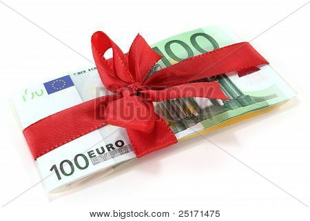 Euro With Red Ribbon