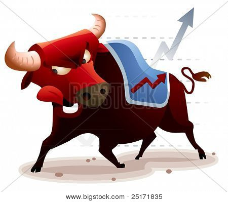 Market in Bullish condition. Vector Illustration