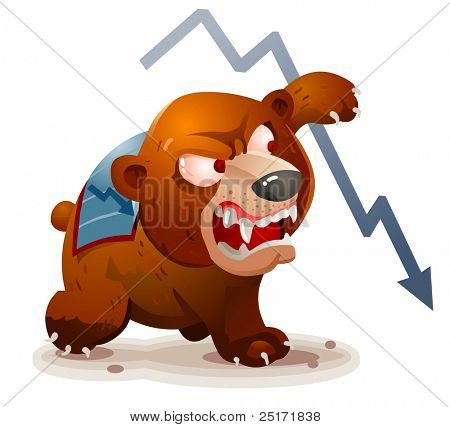Market in Bearish condition. Vector Illustration