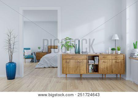 Scandinavian Interior Concept wood Cabinet
