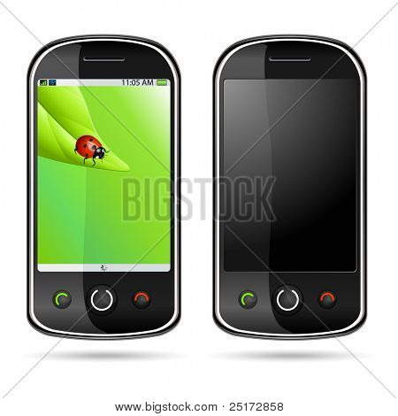 Vector illustration of a modern mobile phone