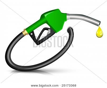 Gasoline Fuel Nozzle giving a drop