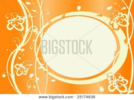 orange vector frame