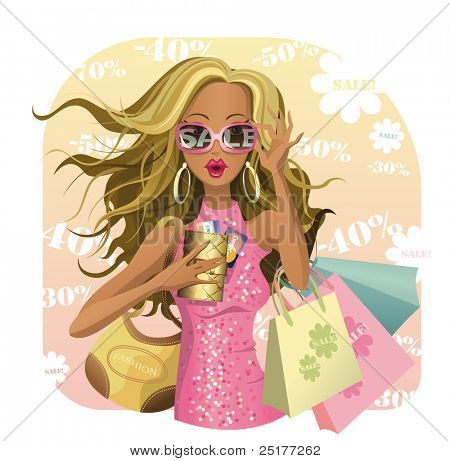 Beauty design for SALE! Glamour vector girl