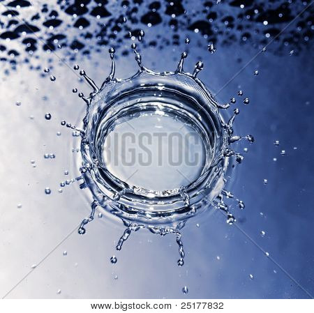 splash of water drops