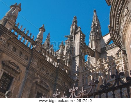 Seville Cathedral Butress Detail