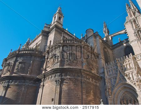 Seville Cathedral Side And Buttress