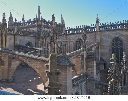 Seville Cathedral Top Detail