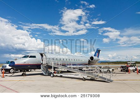 United Express Bombardier CRJ200 Aircraft