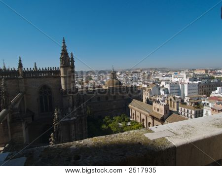 Seville Courtyard Cathedral