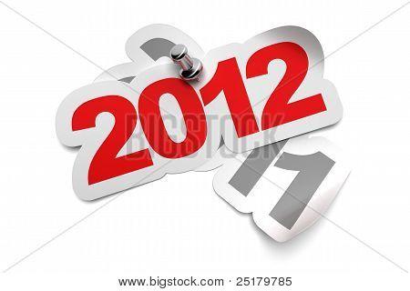 2012 greeting card sticker