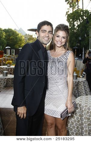 LOS ANGELES - JUNE 16: Adrian Grenier, Maria Menounos at the premiere of 'Entourage' held at Paramount Studios on June 16, 2010 in Los Angeles, California