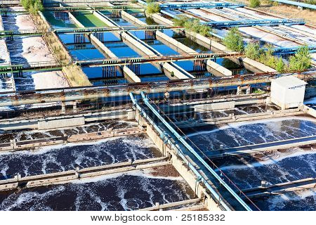 Sewage water treatment station