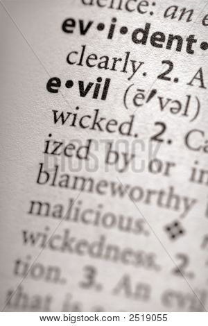 Dictionary Series - Philosophy: Evil