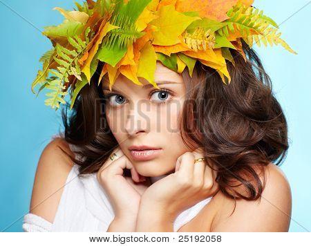 Mädchen im Herbst Girlande