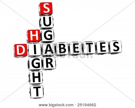 3D Diabetes Hight Sugar Crossword