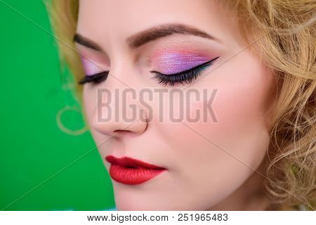 Closeup Portrait Of Woman With