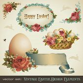 vintage easter design elements