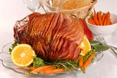 Easter Honey Glazed Ham With Carrots