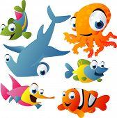 Постер, плакат: 2010 морской жизни векторный набор