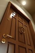 image of wooden door  - Wooden Door - JPG