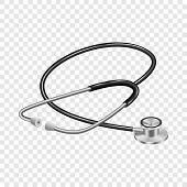Medical Stethoscope Mockup. Realistic Illustration Of Medical Stethoscope Vector Mockup For On Trans poster