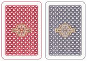 picture of playing card  - Playing cards back abstract design - JPG