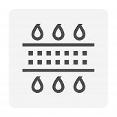 Water Treatment And Water Filter Icon, 48x48 Pixel Perfect And Editable Stroke. poster