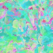 Watercolor Exotic Seamless Pattern. Tribal Colorful Paint Brush Print. Abstract Splash Watercolour D poster
