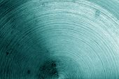 Metal Surface With Scratches In Cyan Tone. Abstract Background And Texture For Design. poster
