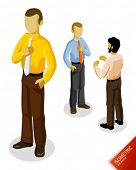 picture of people icon  - People Isometric - JPG