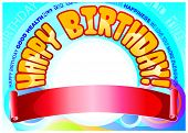 Birthday banner for male celebrant poster