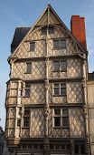 foto of anjou  - Oldest half timbering house of Angers - JPG