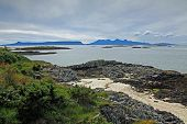 pic of eigg  - View of the Isles of Eigg and Rhum from the mainland - JPG