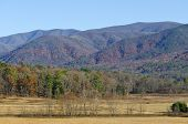 stock photo of cade  - A view of Cades Cove in late fall - JPG