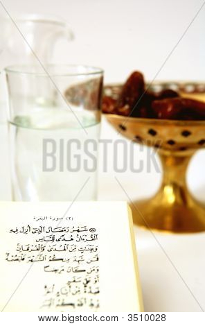 Koran With Water And Dates
