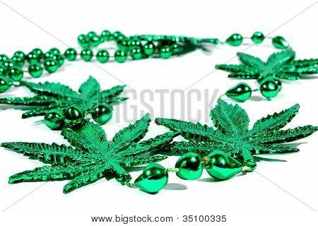 Marijuana Mardi Gras Beads