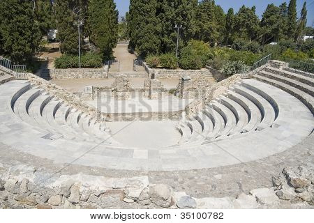 Ancient theater on Kos island, Greece