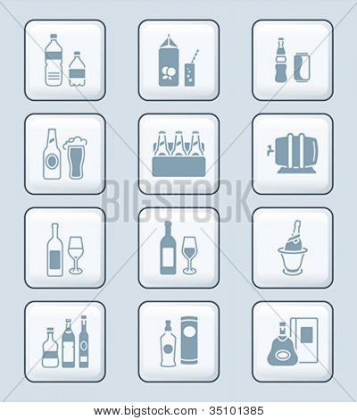 Drink bottles icons   TECH series
