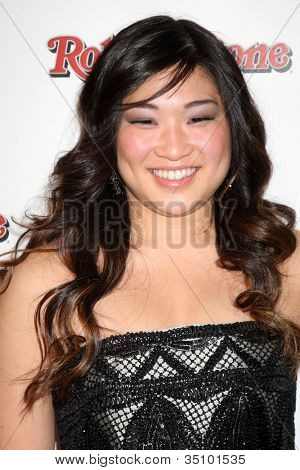 LOS ANGELES - FEB 26:  Jenna Ushkowitz arrives at the Rolling Stone Pre-Oscar Bash 2011 at W Hotel on February 26, 2011 in Hollywood, CA