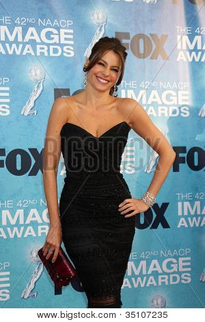 LOS ANGELES - MARCH  4: Sofia Vergara arriving at the 42nd NAACP Image Awards at Shrine Auditorium on March 4, 2011 in Los Angeles, CA